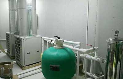 内蒙古乌兰浩特怡适家洗浴中心采用卡兰纳德污水源热泵机组+空气能机组